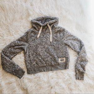 Hollister crop cowl neck sweater XS